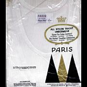 Vintage 1960s Men's Nylon Undershirt Underwear Size Large MIP