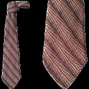 1930s - 1940s Vintage Rayon Necktie Men's Neck Tie Rayon Haband