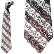Superb 1950s Men's Wide Necktie Fancy Vintage Fashion Neck Tie