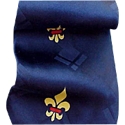 Wide Vintage 1950s Necktie Spun Rayon Neck Tie