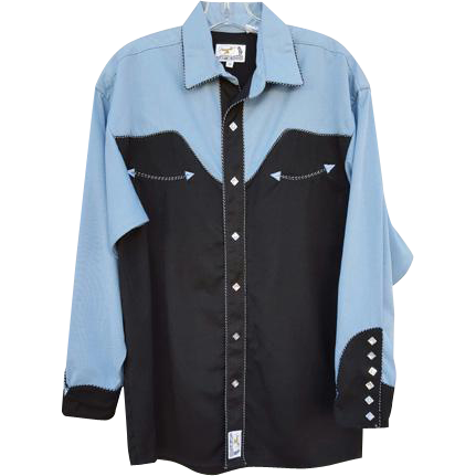 Panhandle Slim Western Shirt Men's Small Women's XL Gabardine