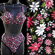 1960s Vintage Unworn Matching Bra and Bikini Pantie Set Size Small Lingerie