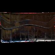 Vintage Classy Black Eel Skin Clutch Purse Minty