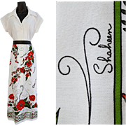 Vintage Shaheen Dress Ankle Length Drama Size Medium