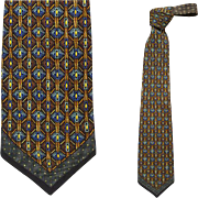 Posh Vintage Vitaliano Pancaldi Silk Necktie Luxury Accessory