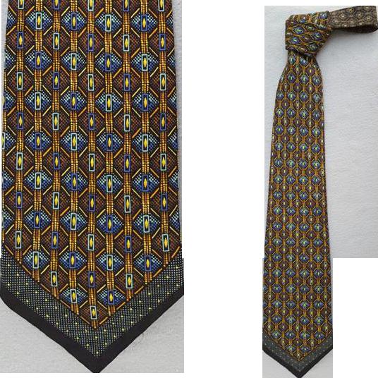 Posh Vintage Vitaliano Pancaldi Silk Necktie Luxury Accessory