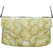 Vintage Original Snakeskin Leather Shoulder Bag or Clutch Purse J. Renee'