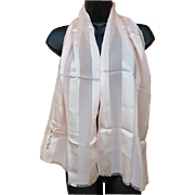 Pink Silk Scarf Oscar de la Renta Sheer Chiffon Heaven