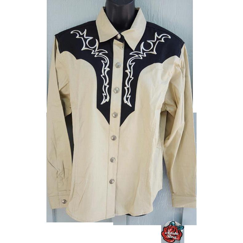 MWT Women's Western Shirt Blouse Adobe Rose XXL Bust 44