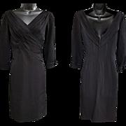 Vintage Ceil Chapman Rayon Cocktail Dress Size Medium
