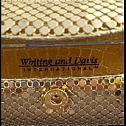 Whiting Davis Gold Mesh Lipstick Holder Lip View Mirror