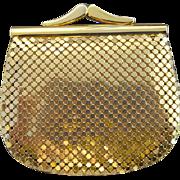 Vintage Whiting Davis Coin Purse Gold Metal Mesh
