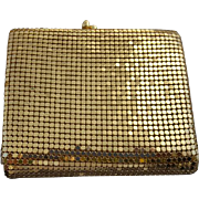 Vintage Gold Metal Mesh Billfold and Coin Purse 1980s
