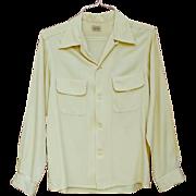 1950s Long Sleeve Men's Rayon Gabardine Shirt Size Medium Penny's