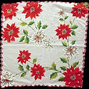 Vintage Christmas Handkerchief Hankie Hanky