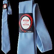 Mens Blue Necktie for Hand Painting NOS Vintage DIY