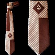 Early 1960s Vintage Necktie Mid Century Modern Print