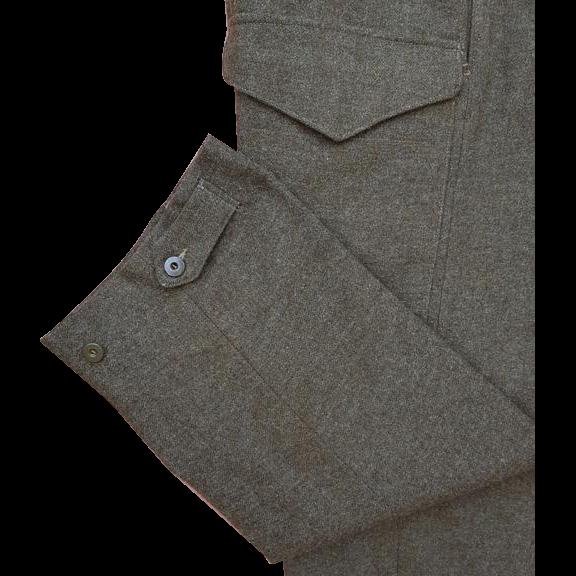 Military Army Battle Dress Serge Winter - Ski Pants 1952 Korean War Era