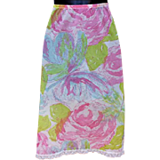 Fancy Floral Butterfly Vintage Half Slip Size Small to Medium