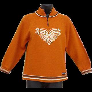 Dale of Norway Snowflake Sweater Warm Winter Ski Wear Small - Medium