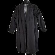 True Vintage Lilli Ann Original Black Wool Coat Trapunto Detail Large