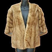 1960s Honey Mink Fur Cape Size Small - Medium Posh Vintage