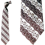 1950s Men's Wide Necktie Fancy Vintage Fashion Neck Tie