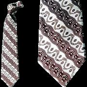 1950s Men's Wide Necktie Fancy Vintage Fashion Neck Tie