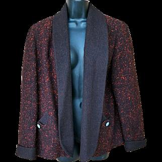 1950s Vintage Short Swing Jacket or Coat Iconic Size Large