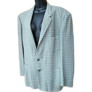 1950s Men's Snazzy Sportcoat Classy Plaid Size Medium Sport Coat