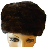 Vintage Sable Mink Fur Hat Turban Style Size Small