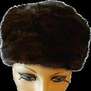 Vintage Sable Mink Fur Hat Turban Style Size Small