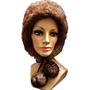 Italian Sheepskin Fur Hat Winter Warm Blizzard Buster Medium