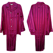 Unworn Men's Satin Pajamas Vintage 1940s Size Extra Large