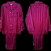Unworn Men's Satin Pajamas Vintage 1940s Size Extra Large