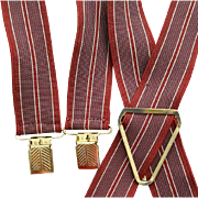 Men's 1940s - 1950s Suspenders Size Medium - Large