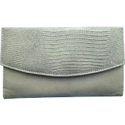 Women's Vintage Gray Leather Wallet 1970s Prince Gardner