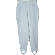 Old School White Stirrup Pants Original Leggings MINT Unworn