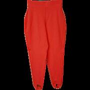 Vintage Stirrup Pants Coral Leggings Unworn Knit High Waist