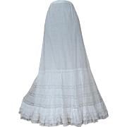 Victorian Full Flouncy Petticoat Layers of Lace 1890