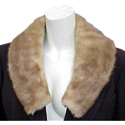 1950s - 1960s Real Mink Fur Collar add to Coat Jacket or Sweater