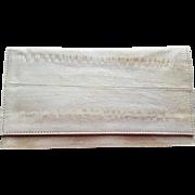 1970s Eel Skin Leather Wallet or Checkbook Cover in Bone