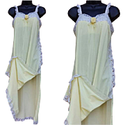 Vintage Olga Nightgown Spring Time Pastel Yellow Bust 36
