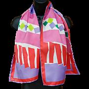 Vintage Vera Rectangle Scarf Color Block Pastels Spring Summer