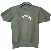 1960s Sweatshirt Pi Beta Phi Sorority Short Sleeve True Vintage Small - Medium