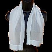 1940s Tissue Silk Scarf Baby Blue Super Sheer Superb