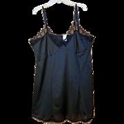 Vintage Black Nylon Mini Slip or Chemise Size XXXL Bust 50 Plus Size