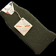 Vintage Hipster 1960s Men's Nylon Dress Socks Mint with Tags Size 10