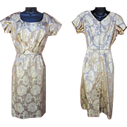 1960s Gold Brocade Cocktail Dress size Small Mint Gorgeous