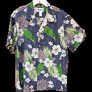 Men's Hawaiian Aloha Shirt Invisible Pocket Authentic Island Wear XL Extra Large